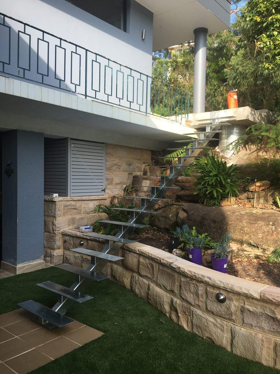Steel External Stairs 4
